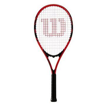 raquetas tennis Wilson Raqueta de Tenis, Federer, Unisex, Principiantes y Jugadores intermedios, Rojo/Negro, Tamaño de empuñadura L3